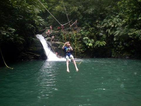 Paria Springs Eco Community, Rio Seco Zip Line, Trinidad and Tobago